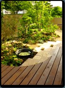 テラスのあるの庭のイメージ