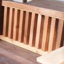手作りベンチの写真