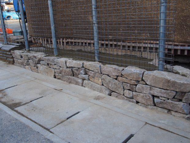 気良石の石積み