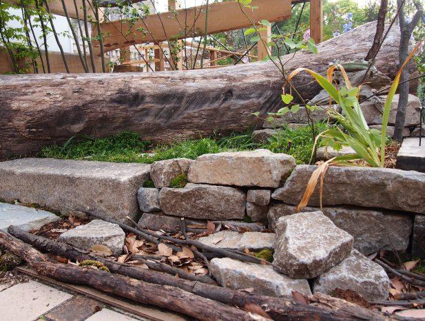 気良石と流木