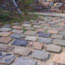 アンティークの石畳の写真