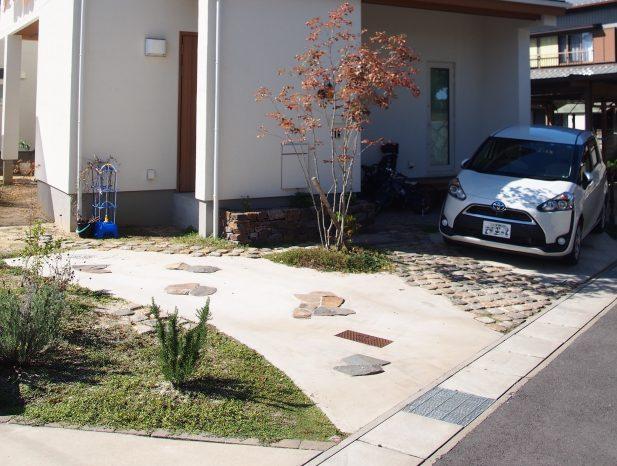 駐車場の庭
